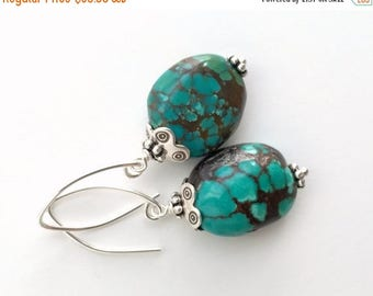 Turquoise Earrings with Solid 925 Sterling Silver