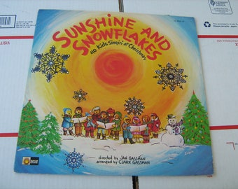 1973 sunshine and snowflakes 40 kids singin' christmas songs  LP 33-1/3 rpm record