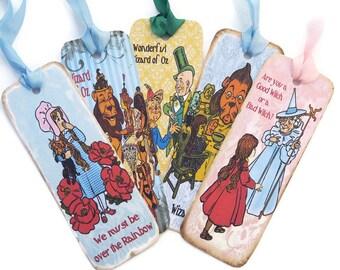 Bookmarks, Wizard of Oz, Vintage Retro Tag, Paper Bookmark, Fairytale Tea Party Favor, Dorothy, Tin Man, Scarecrow,Toto,Ruby Shoes,Australia
