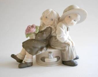 Girl Boy Figurine Just You And Me Always Vintage 1996 Kim Anderson Enesco Girl Boy Statue Porcelain Figurine Home Decor