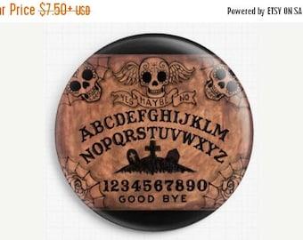 SAVE 30% Needle Minder, Ouija Board, Cross Stitch Keeper, Scissor minder, Fridge Magnet, Licensed Art By Shayne of the Dead