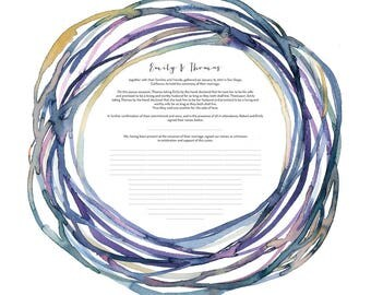 Quaker Marriage Certificate || Nestled