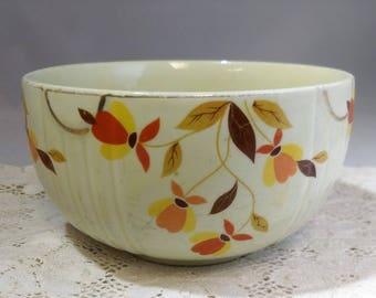 "Hall's Superior Mixing Bowl 6"" One Quart Jewel Tea Autumn Leaf 1930's Mary Dunbar #C70"