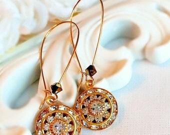 SALE 20% Off Art Deco Earrings - Victorian Jewelry - White Diamond - Bridesmaid Gifts - AURORA Ice