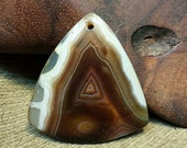 NEW ~ Latte Swirl Striped Druzy Agate Triangle