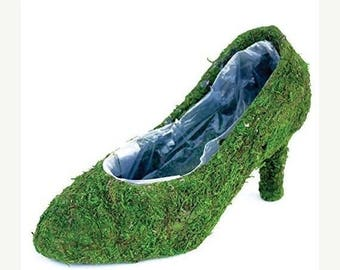 Save25% Moss shoe Planters 12 pumps-Shoe Baskets-Moss shoe-Moss planters