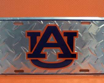 Auburn Tigers Football License Plate Car Truck Tag War Eagle Aubie AU