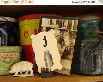 ONSALE Vintage Farmhouse Bell Jar Picture Flash Card
