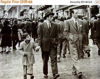 ONSALE Vintage 1950s News Journalist Black and White Photo Dapper GQ Men on City Sidewalks