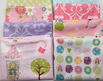 PRESIDENTS DAY SALE - Fat Quarters (8) Dream and a Wish - Sandra Workman for Riley Blake Designs