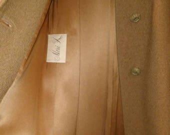 Doris Day, Mink Collar Meri K Label Camel Wool Coat in Mint Condition at Nestbox Vintage