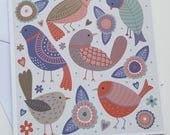 Birds of a Feather - greetings card