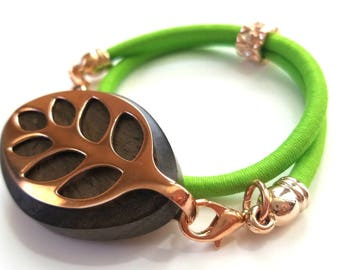 Bellabeat Leaf accessory band - Heading to the gym?  Simple assorted colorful double wrap stretch band with rose gold accents