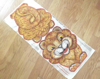 1970s fabric for lion pillow - charity for animals