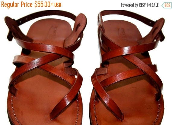 15% OFF Brown Triple Leather Sandals For Men & Women - Handmade Sandals, Leather Flats, Leather Flip Flops, Unisex Sandals, Brown Leather Sa