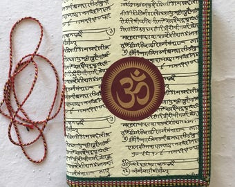 OM Chakra Journal, Blank Writing Journal, Spiritual Gift, Vedanta Gift, Personal Book, Hindu Diary, Religion Study Notes, plain notebook