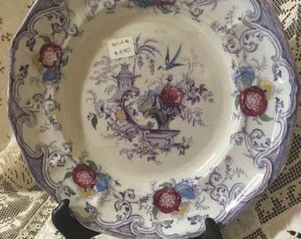Set of 6 Florilla Purple Floral Plates
