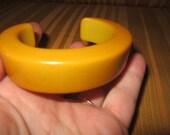 Vintage Chunky Butterscotch Bakelite Cuff Bracelet