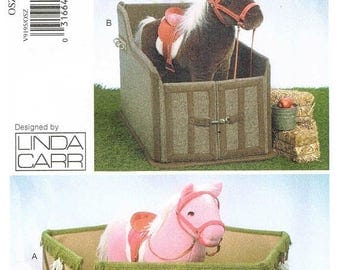 On Sale Sewing Pattern Vogue 9195 Horse Corral and Stall Toy Designed By Linda Carr New and Uncut Factory Folds
