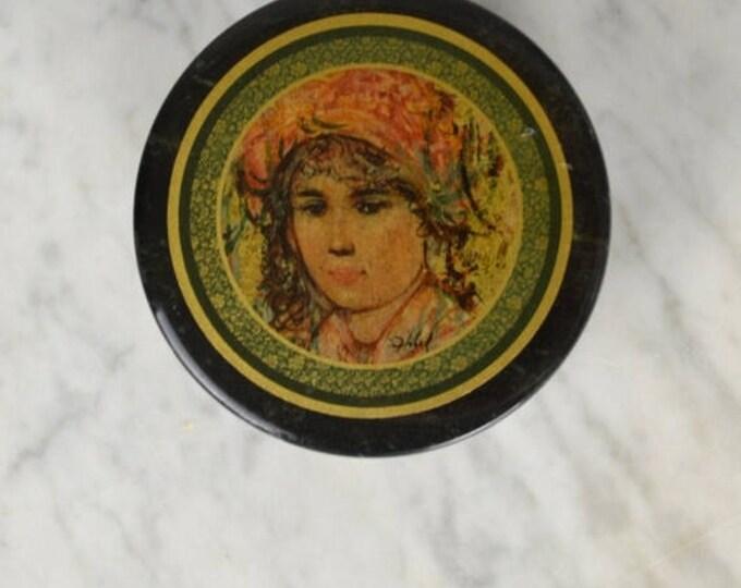 sale Edna Hibel Marble Box, Jewelry Storage, Artist Hibel, Hibel Home Decor, Gift for Her, Home Decor, Jewelry Box, Keepsake Box, Trinket Bo