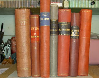 Spanish Language Books (Antiques) - Various Titles and Authors (1876-1912)