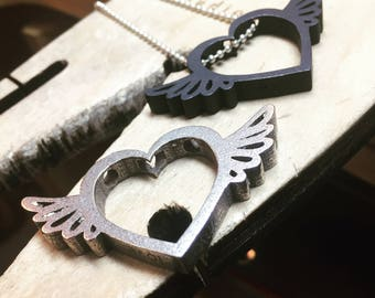 Winged Love Hearts - Made to Order