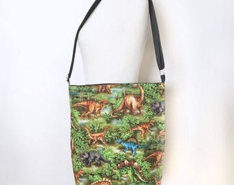 Jurassic tote bag / Dinosaurs bag / Crossbody Tote Bag / Messenger