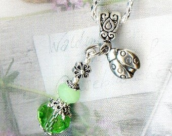 Pendant ❀ little Spring Green Crystal H196 ❀
