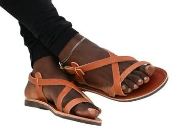 Handmade Roman Grecian leather sandals - NEW COLOR
