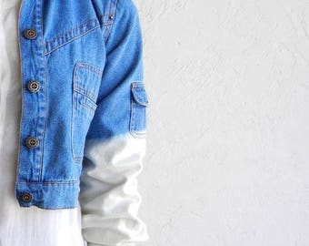 40% OFF CLEARANCE SALE Cropped Ombre Denim Jacket