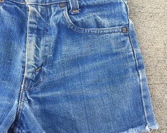 40% OFF The Vintage Levi Strauss Rancher Blue Shorts WAIST 25