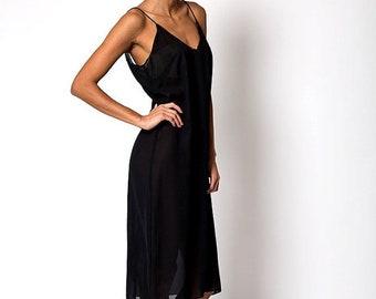 40% OFF The Vintage Black Sheer Cover Up Dress