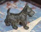 vintage cast iron dog...  vintage home decor...   garden decor...  wedding... shabby chic...  T 17  L