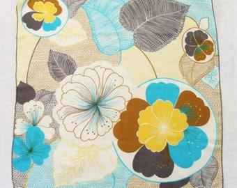 Large Silk Scarf Kreier Made in Switzerland Flower Blossoms