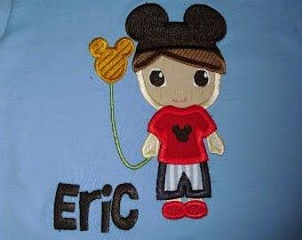 Custom Mickey Mouse Boy Applique Shirt