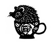 Hedgie In A Tea Cup - Greeting Card