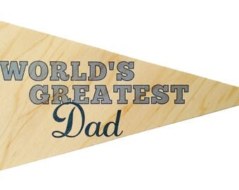 World's Greatest Dad Pennant Greeting Card