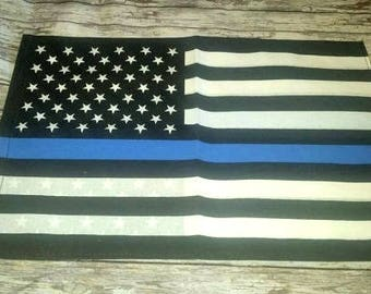 Police support flag, Blue line American Flag, thin blue line,  back the blue,  police garden flag,