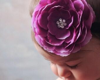sale Purple Baby Headband Infant Headband Newborn Headband Toddler Headband Photography Props Newborn Photography Photo Props Girls Headband