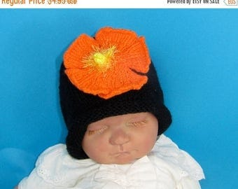 40% OFF SALE Instant Digital File pdf download knitting pattern- Baby  Flower Slouch hat  pdf download knitting pattern