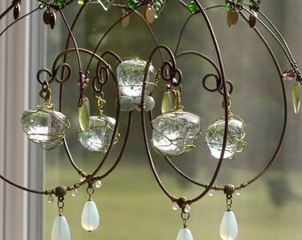 A Melted Marble Sunshower Chandelier