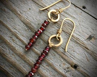 Gold Sterling Silver Garnet Earrings Wild Prairie Silver Jewelry