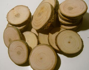 20 Small Wood Tree Branch Slices 1.5 - 2.5 inch