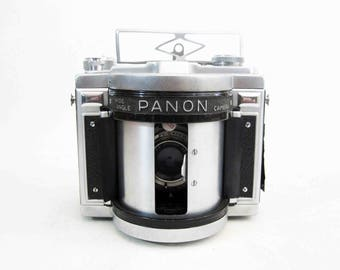 Vintage Panon 140 Degree Wide Angle Camera w/ 5cm F/2.8. Made in Japan. Circa 1950's.