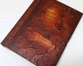Handmade Refillable Journal Distressed Brown Runes textured 8x6 Original travellers notebook hardcover fauxdori