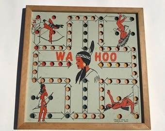 Vintage Board Game Wahoo Board by Creative Ideas 1950's