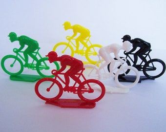 5 Cyclist Charms, imperfect bases
