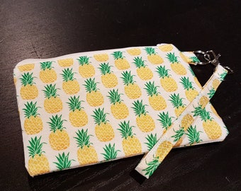 Pineapples Wristlet Bag