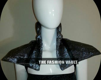 Steampunk Cosplay  Samurai warriors girl collar shrug dance costume