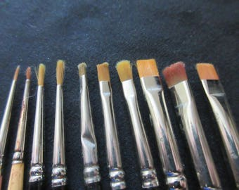 10 Syn Sable Art Paint Brushes from France and Japan - Small Size